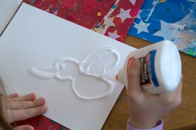 Raised Salt Painting with Kids - Glue Art