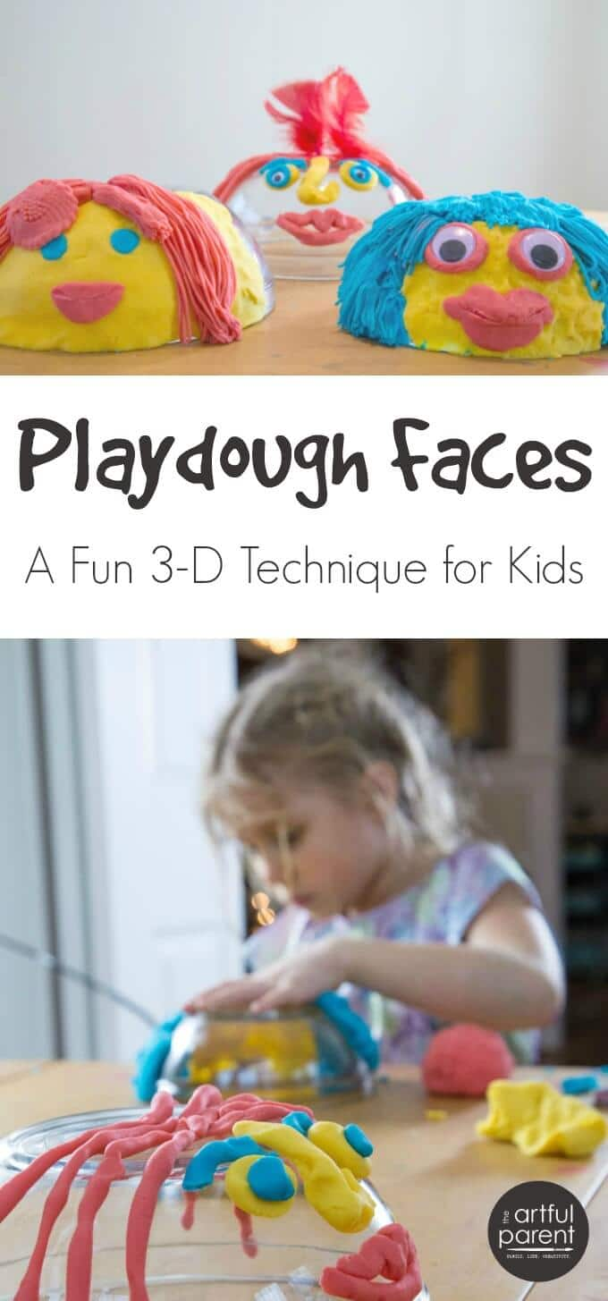 How to Make Playdough Faces on Upside Down Bowls