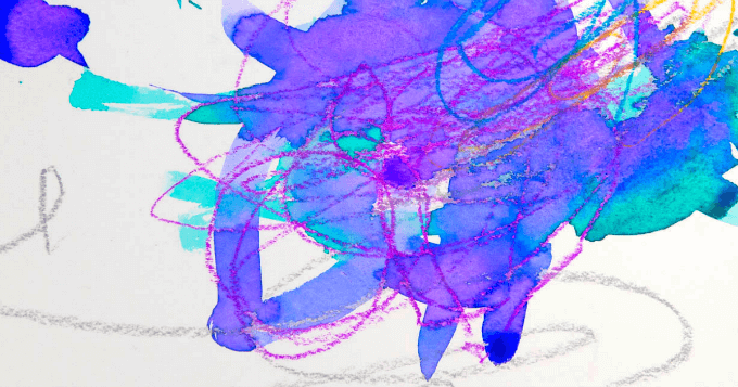 Watercolor Resist Art with Young Children