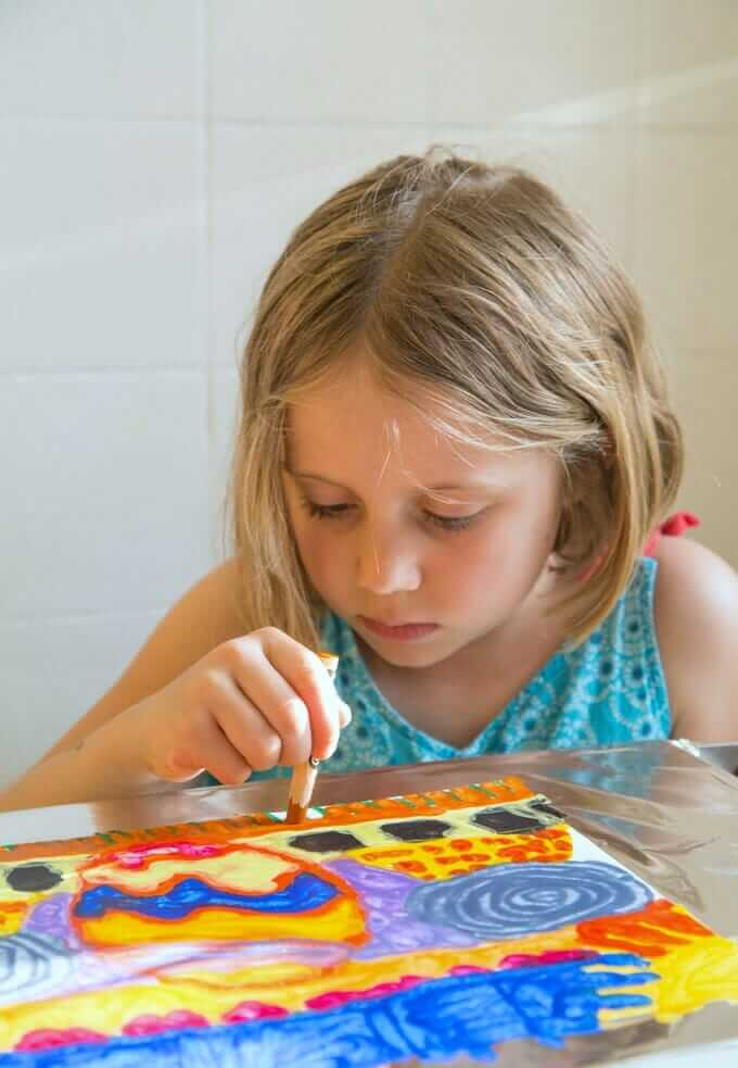 Melted Crayon Art - Using a Warming Tray