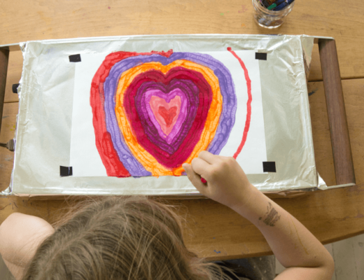 Melted Crayon Art with a Warming Tray