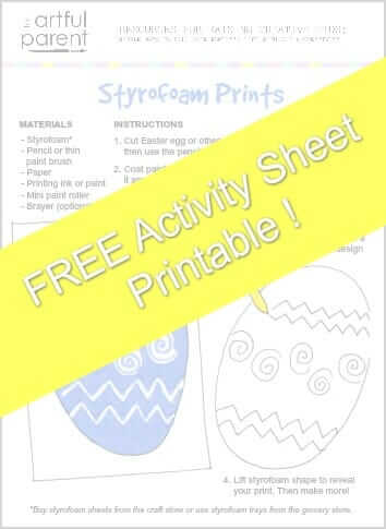 Styrofoam Printmaking Printable Activity Sheet