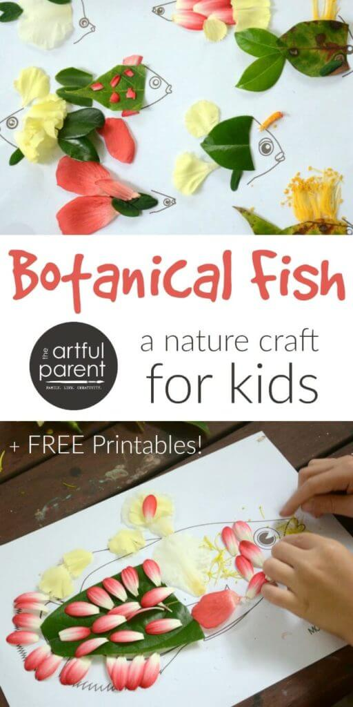 Nature Fish Craft with Flowers and Leaves