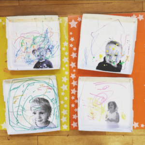 Portrait Art with Little Kids