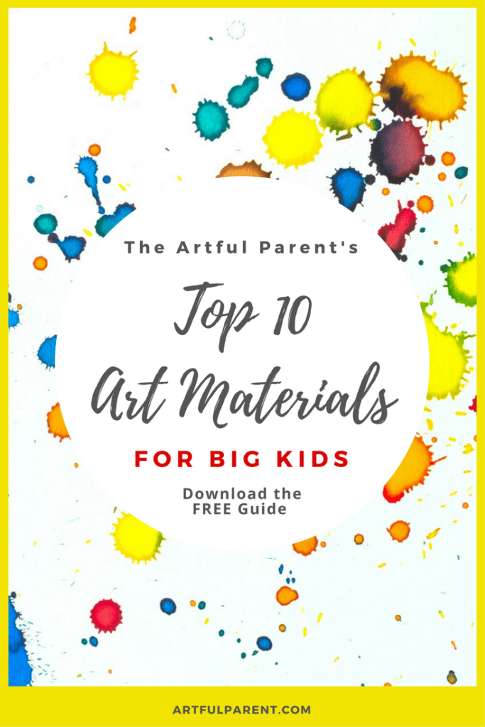Top 10 Art Materials for Big Kids - A Free Printable Guide for Parents and Teachers