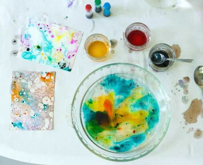 Marbling with Oil - Adding More Colors