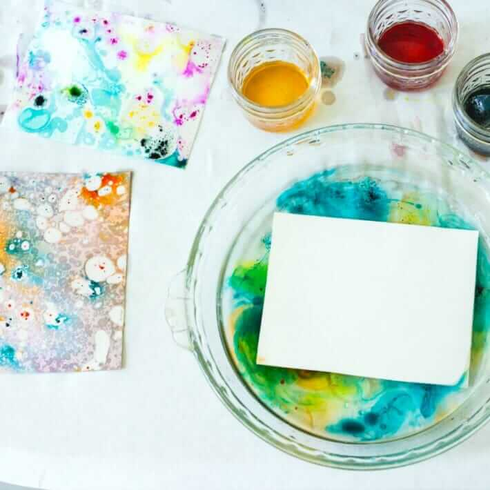 Marbling with Oil and Color