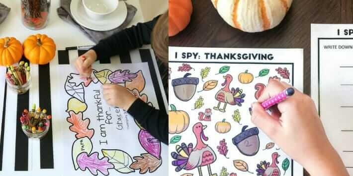Thanksgiving Activities for Kids - Thanksgiving Printables for Kids