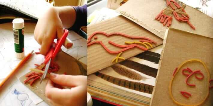 10 Make Your Own Stamp Set Ideas - Rubber Band Stamps