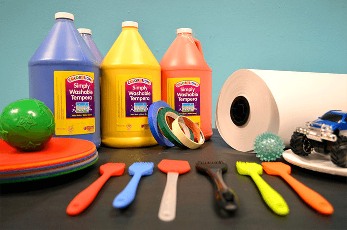Art Supplies for Making Art with Babies