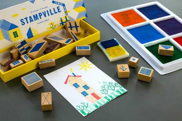 Using a Stampville architecture stamp set