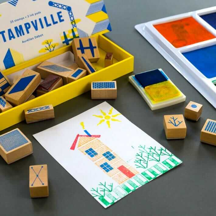 Stampville rubber architecture stamp set