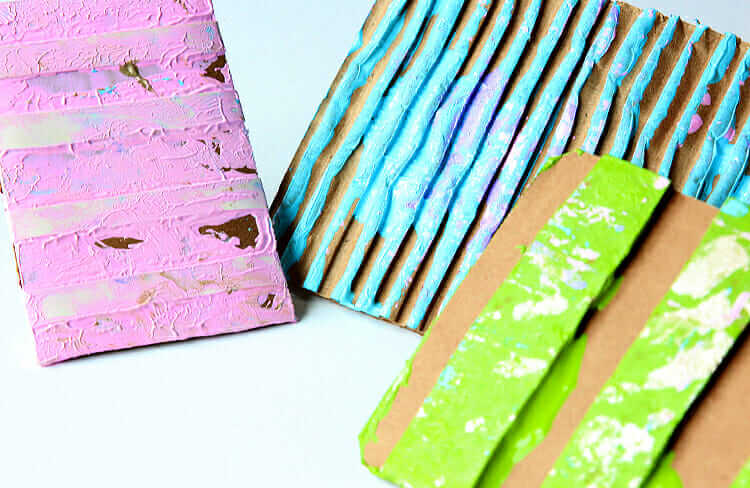 Cardboard DIY Stamp with Paint