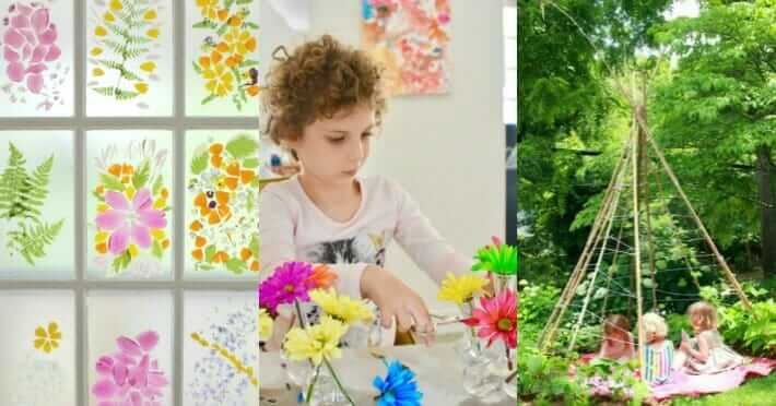 30 Spring Activities for Kids Collage of Photos