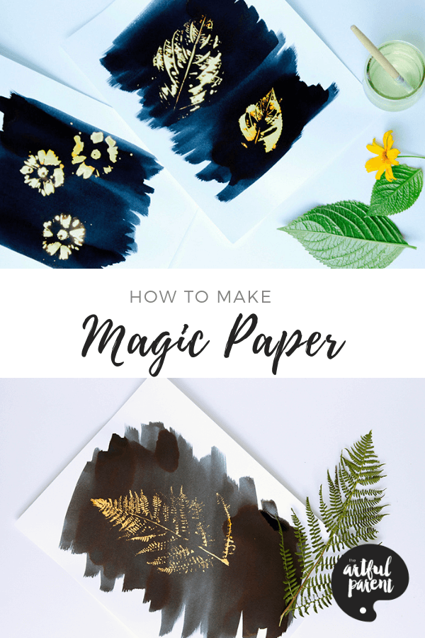 Learn how to create magic paper with just a few supplies. This is a printmaking & painting project that kids will enjoy as they watch the magic unfold! #kidsart #artforkids #artsandcrafts #kidsactivities #kidscrafts #craftsforkids
