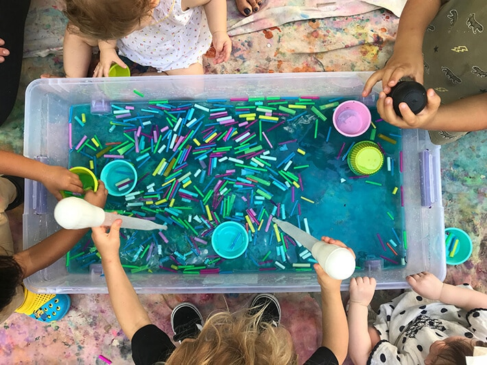 Toddler Art Activities - Water play