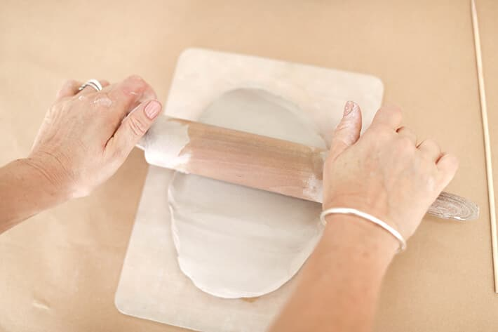 Step 1 – Roll out clay for clay relief tiles
