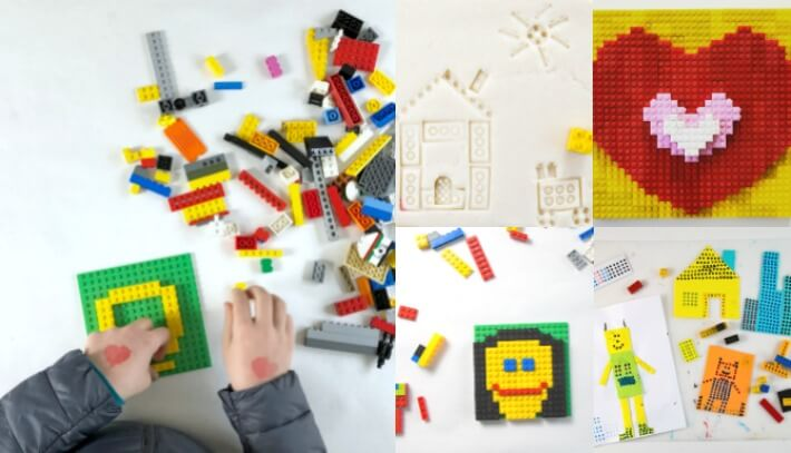 13 Fun and Creative LEGO Art Ideas for Kids Collage