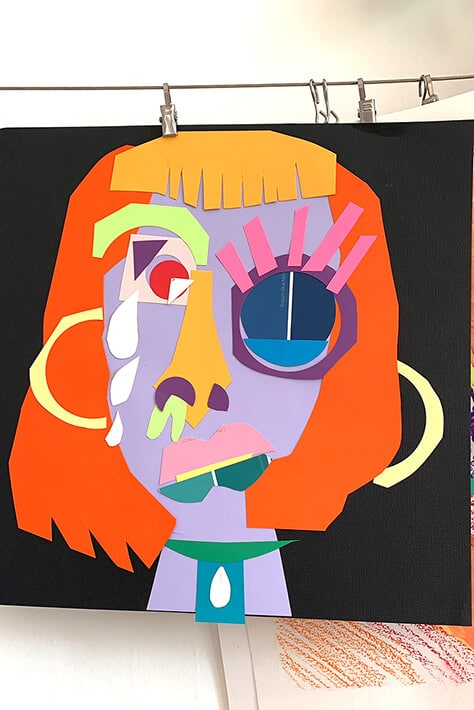Picasso Collages Inspire Exploration & Self Portraits for kids