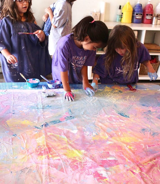 collaborative paintings on Purple Twig