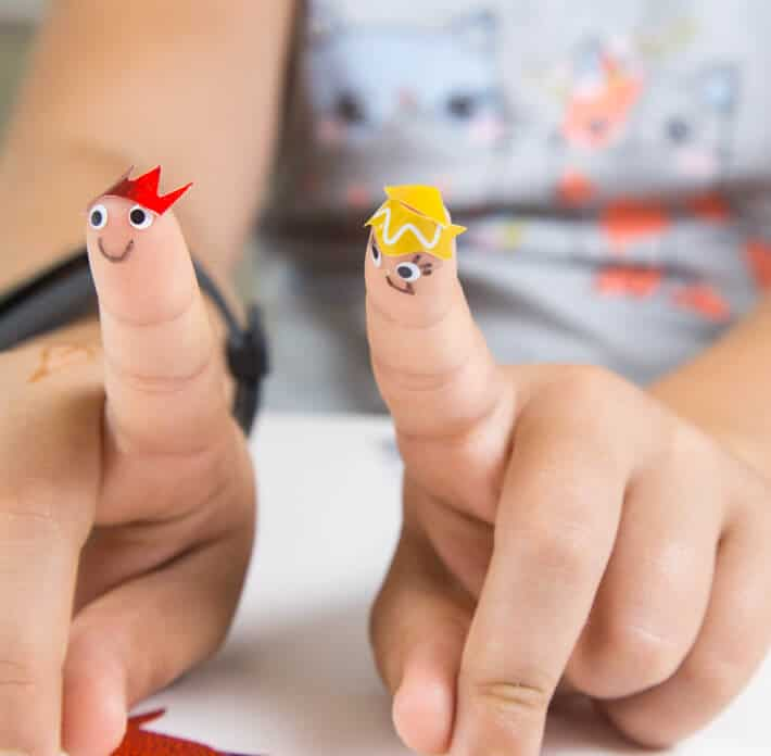 Sticker finger puppets and other creative ways to use stickers for kids