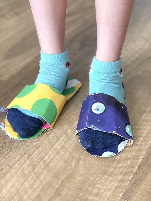 DIY shoes for kids costume