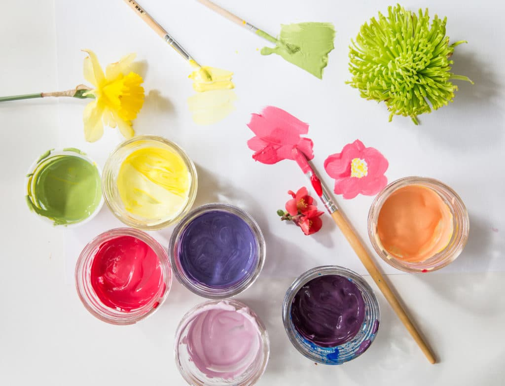 Mix & Paint a rainbow from nature.