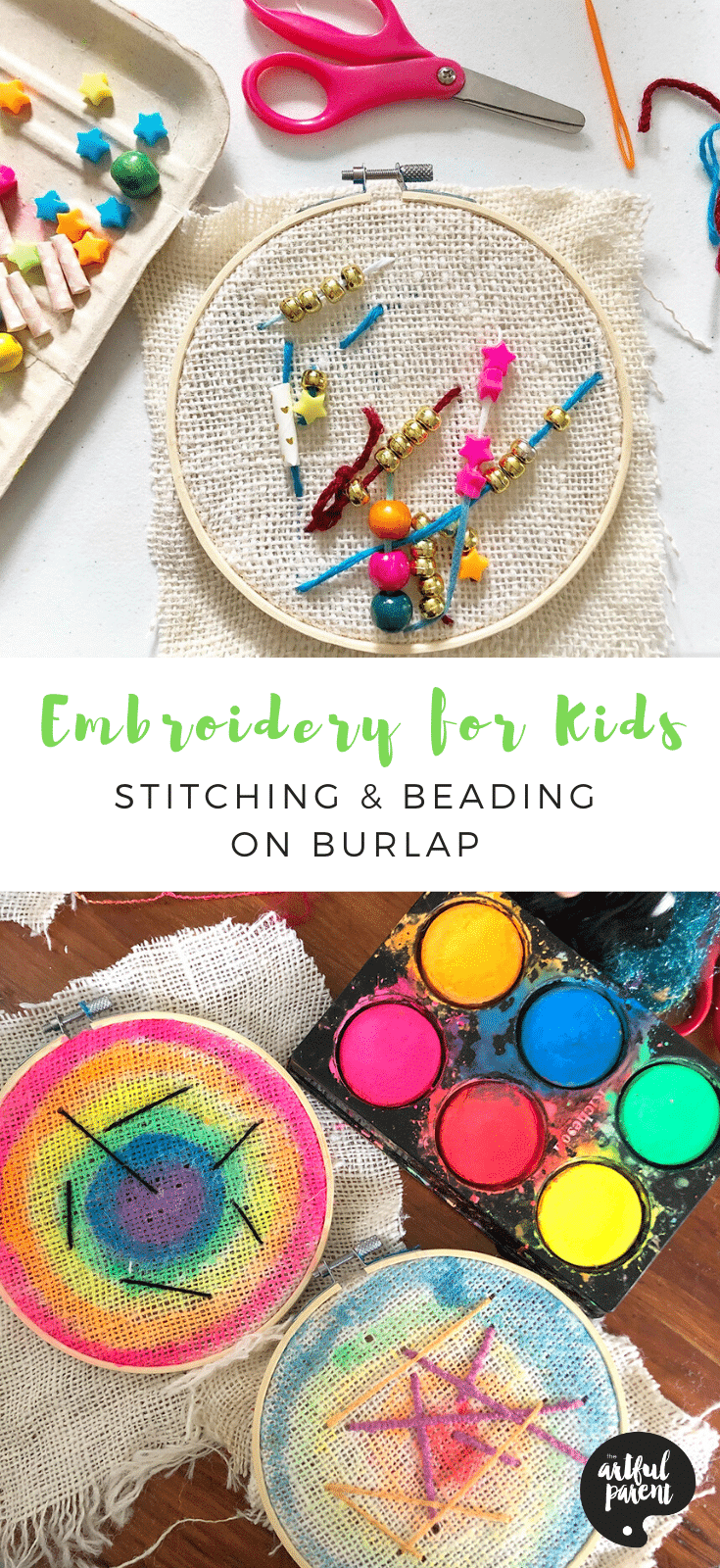 Embroidery-for-Kids_-Stitching-Beading-on-Burlap-_-Pinterest
